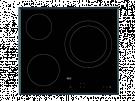 Aeg HK623021FB - Vitroceramica Independiente Radiantes 3 Zonas Coccion Ancho 60 Cm