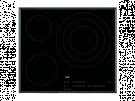 Aeg IKB63405FB - Vitroceramica Induccion 3 Zonas Coccion Ancho 60 Cm