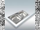 Cata C2 - Fregadero De Cocina Acero 80 Cm 2 Cubetas 0 Escurridor