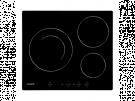 Cata IB6203BK - Vitroceramica Induccion 3 Zonas Coccion Ancho 60 Cm