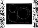 Cata INSB 6003 BK - Vitroceramica Induccion 3 Zonas Coccion Ancho 60 Cm