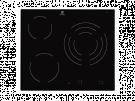 Electrolux EHF6232IOK - Vitroceramica Independiente Radiantes 3 Zonas Coccion Ancho 60 Cm