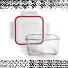Ibili 754810 1000 ml vidrio cuadrado - Tapper