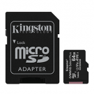 Kingston SDCS2/64GB + ADAPTADOR - Tarjetas De Memoria Microsd 64 Gb