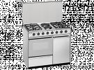 Meireles E 920 X - Cocina De Gas 4 Zonas Coccion 2 Electrico Con Portabombonas Inox Gb