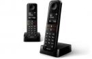 Philips D4702B/34 DUO - Telefono Sobremesa Negro