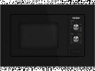 Sauber HMS01B - Horno Microondas Integrable 20 Litros Con Grill Negro