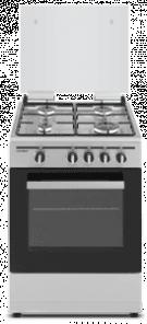 Sauber SCI41GB - Cocina De Gas 4 Zonas Coccion Inox