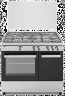 Sauber SCI5GB - Cocina De Gas 5 Zonas Coccion Con Portabombonas Inox