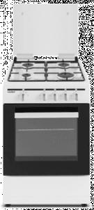 Sauber SCW41GB - Cocina De Gas 4 Zonas Coccion Blanca