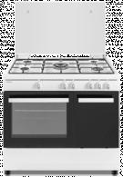 Sauber SCW5GB - Cocina De Gas 5 Zonas Coccion Con Portabombonas Blanca