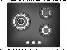 Sauber SECGB05 - Encimera De Gas 3 Zonas Coccion Ancho 60 Cm