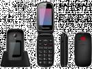 "Sunstech CELT22BK - Telefono Movil 2,4"" Negro Boton SOS"