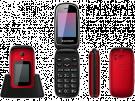 "Sunstech CELT22RD - Telefono Movil 2,4"" Rojo Boto SOS"