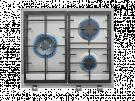 Teka EX 60.1 3G AI AL DR CI NAT - Encimera De Gas 3 Zonas Coccion Ancho 60 Cm