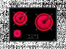 Teka TR 5300 - Vitroceramica Independiente 3 Zonas Coccion Ancho 60 Cm
